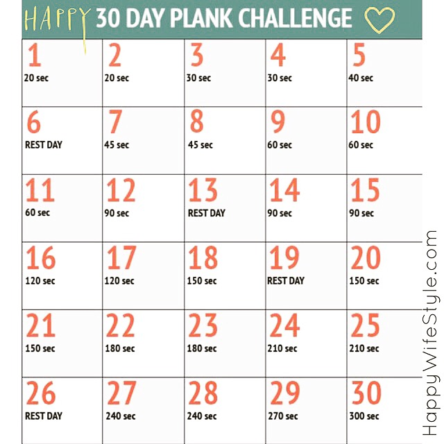 "photo regarding Printable 30 Day Plank Challenge referred to as 30 Working day Plank Issue Joyful WifeStyleâ""¢"