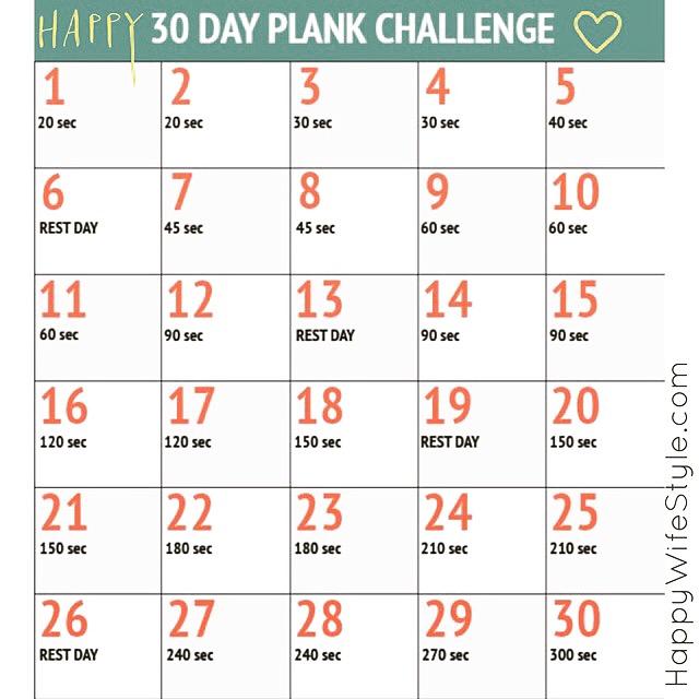 "photo regarding Printable 30 Day Plank Challenge referred to as 30 Working day Plank Issue Joyful WifeStyleâ""¢"
