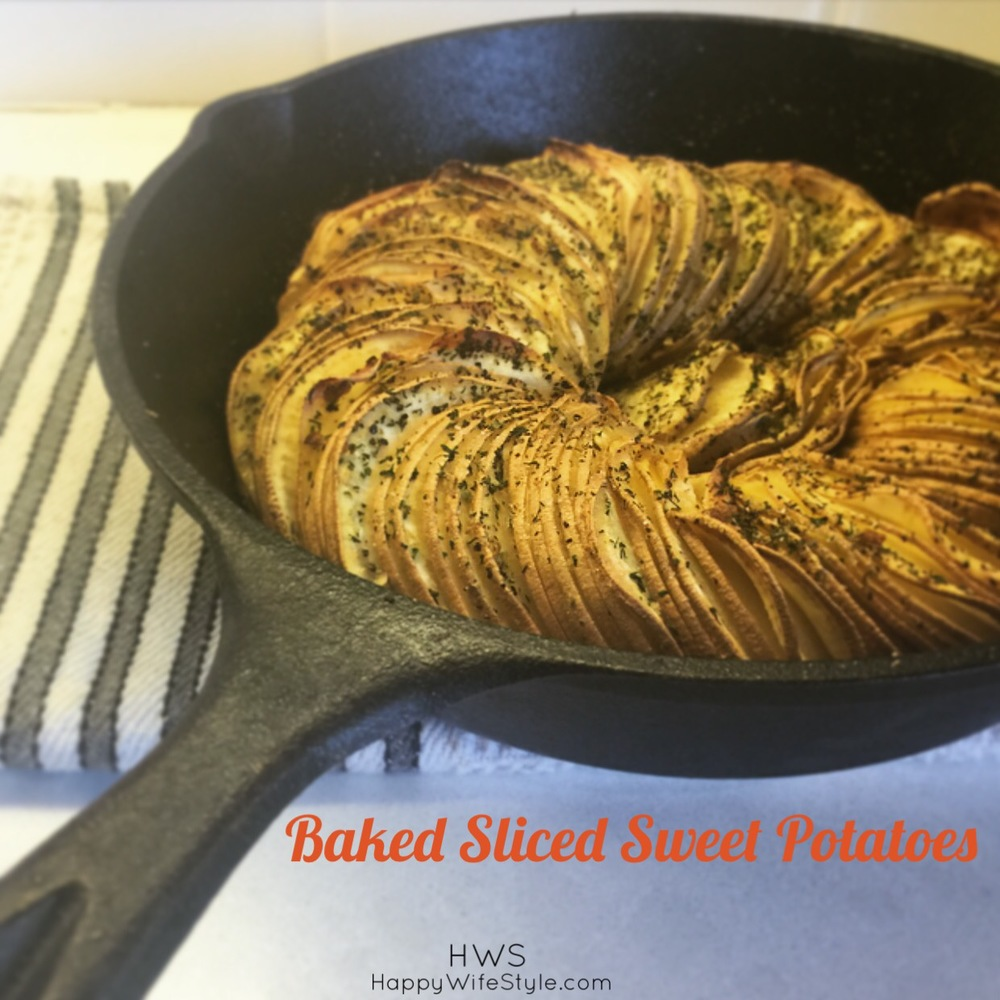 baked sliced sweet potatoes