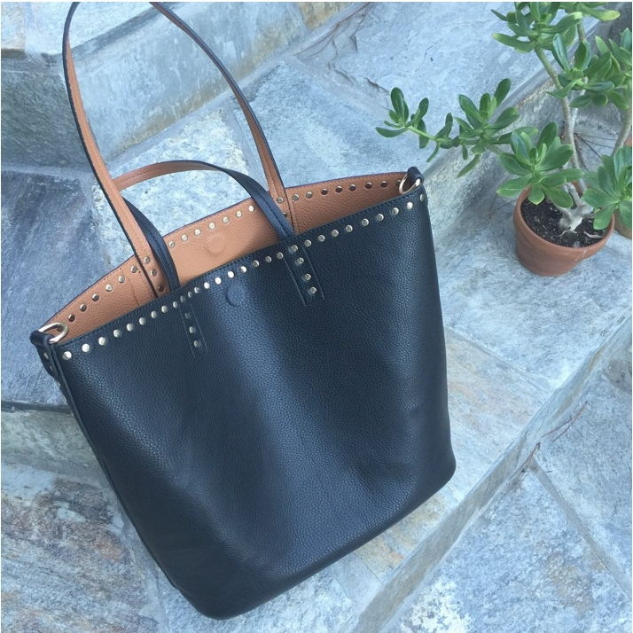 Street Level Addison Studded Reversible Tote