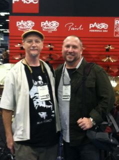 Brad Dutz and Randy Gloss at the Paiste booth at NAMM  Anaheim CA, 2012.