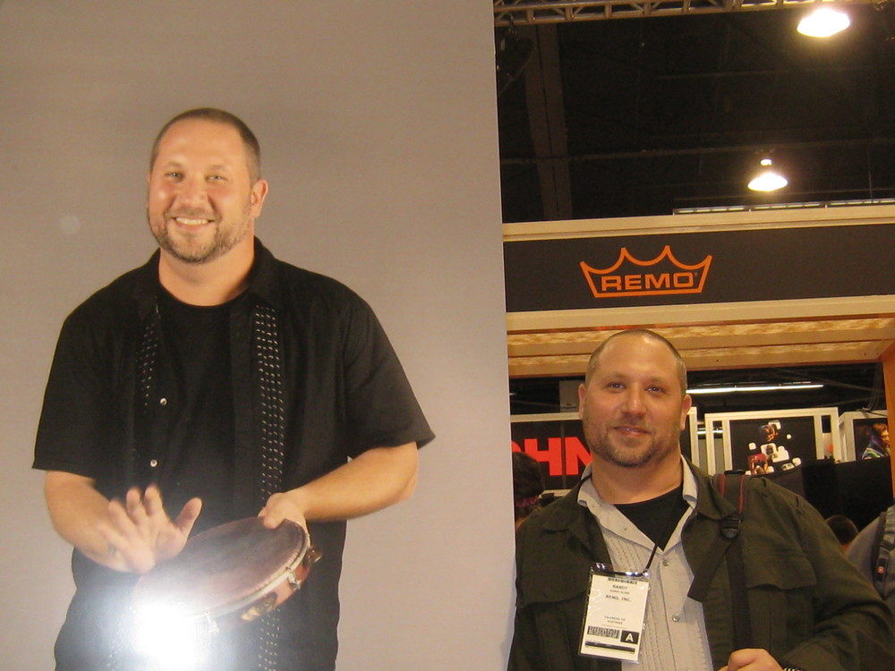 at the Remo booth at NAMM  Anaheim CA 2012
