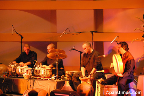L-R: Ardeshir Rohani, Andrew Grueschow, Randy Gloss, Austin Wrinkle, and Houman Pourmehdi.  Skirball Cultural Center, Los Angeles, September 27th, 2006.