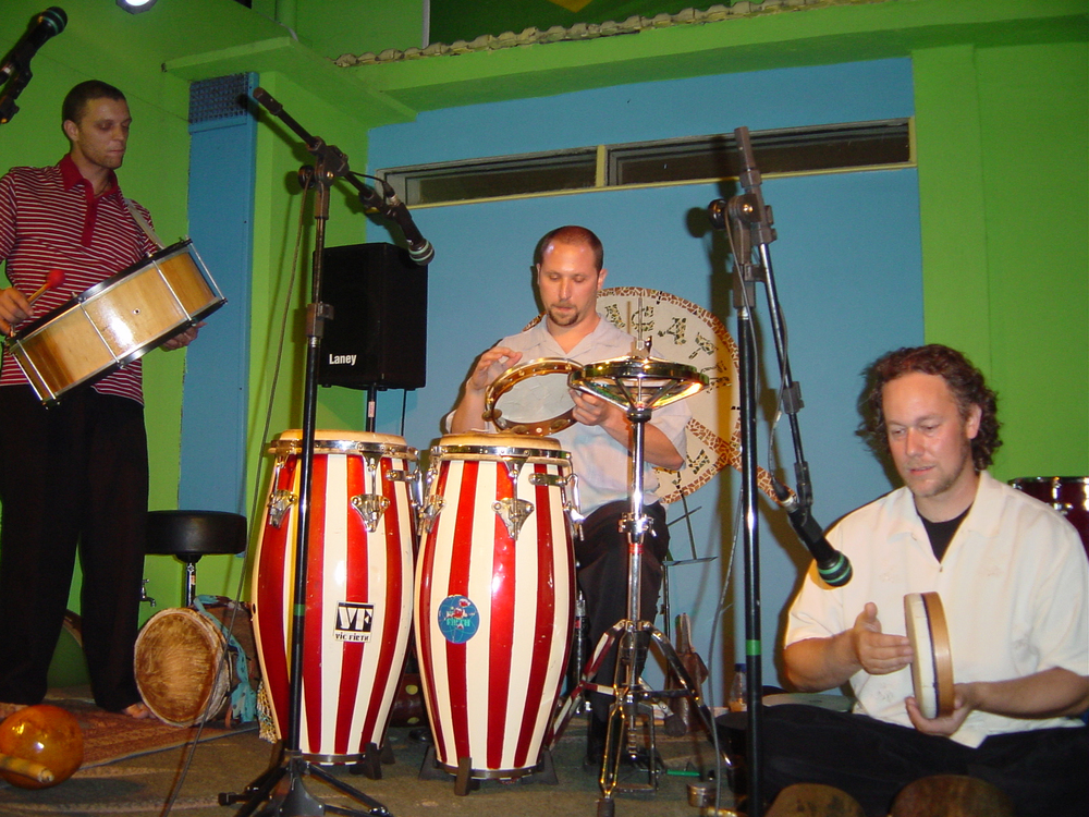 Hands On'Semble in Concert at Maracatu in Rio De Janeiro August, 2003.