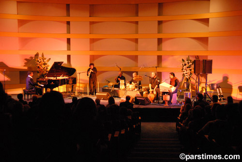 L-R: Aria Rohani, Pedro Eustache, Andrew Grueschow, Randy Gloss, Austin Wrinkle and Houman Pourmehdi. Skirball Cultural Center, Los Angeles, September 27th, 2006.