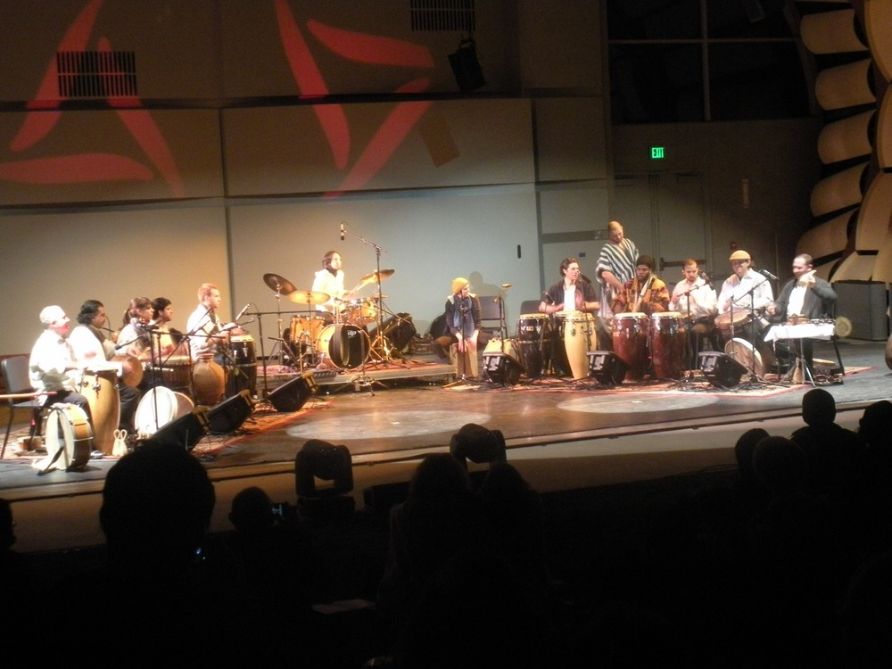 CalArts World Percussion Ensemble with special guest Guello.  CalArts World Music Festival, May 2011.