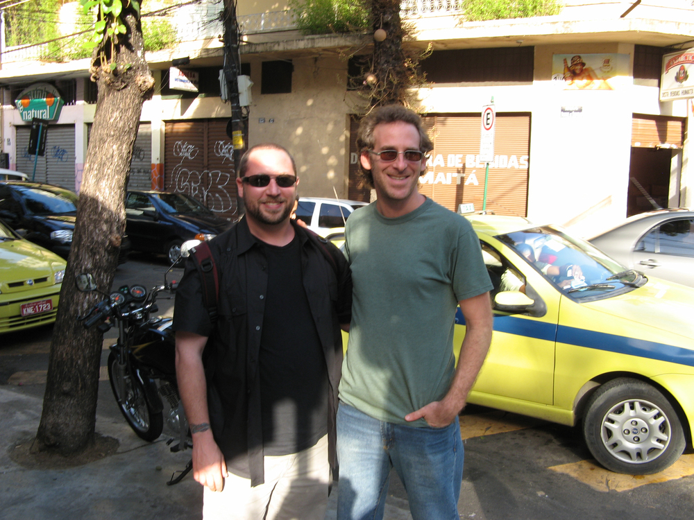 Randy Gloss with Scott Feiner (pandeiro.com, Pandeiro Jazz) in Rio de Janeiro