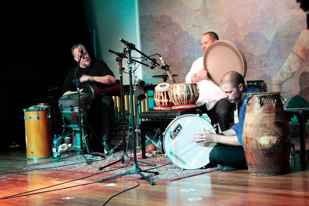 Hands On'Semble concert at II Festival Internacional de Música Percussão Contemporânea, August 2014.