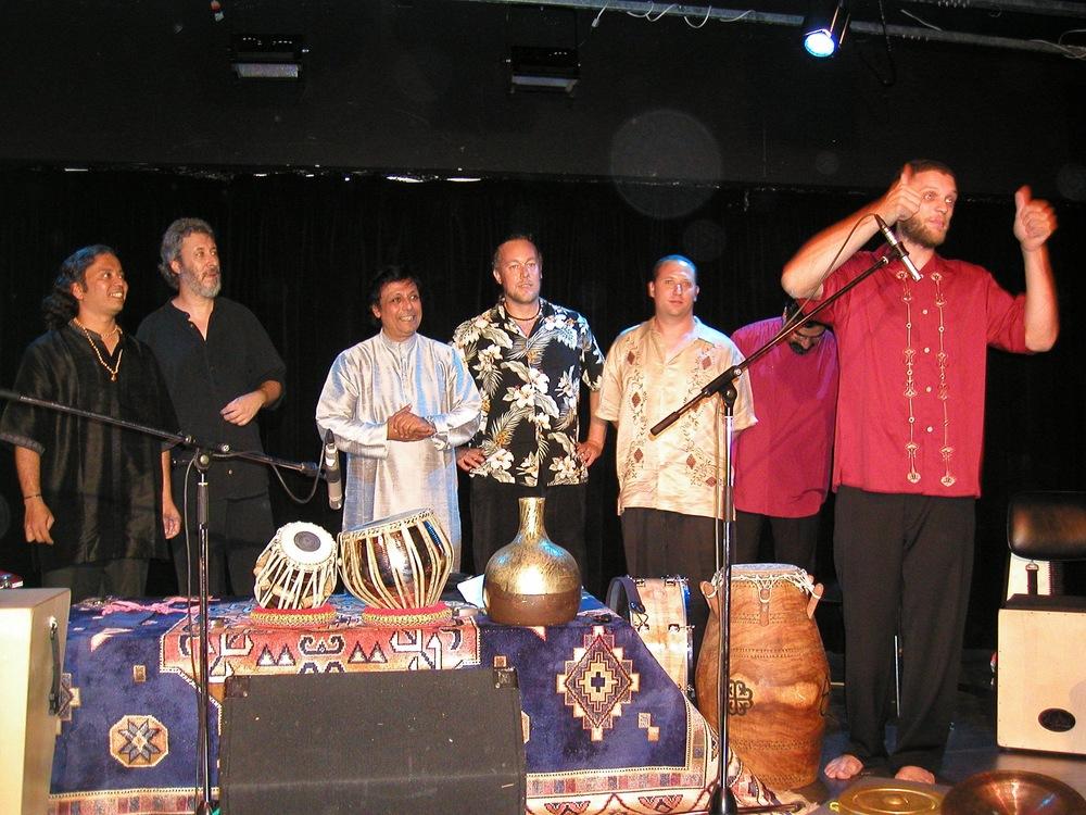 Hands On'Semble with Poovalur Sriji, Adam Rudolph, Houman Pourmehdi.  Ritmos da Terra Campinas Brazil, 2004.