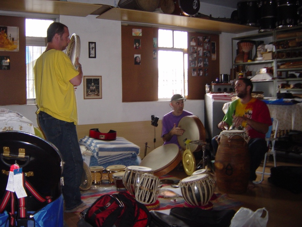 Rehearsing with Duo Ello for their album Link in Sao Paulo Brazil, 2004