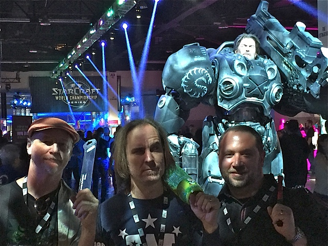 BlizzCon 2015, Anaheim CA Nov. 6th & 7th 2015.  Brad Dutz, Chris Wabich, Randy Gloss.
