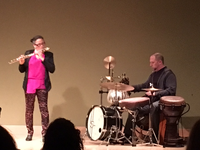 Playing with Nicole Mitchell, Soundwaves concert at Santa Monica Library.  May 18th, 2016.
