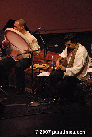 Lian Ensemble at The Getty Center.  February 2nd, 2007.  Randy Gloss and Houman Pourmehdi