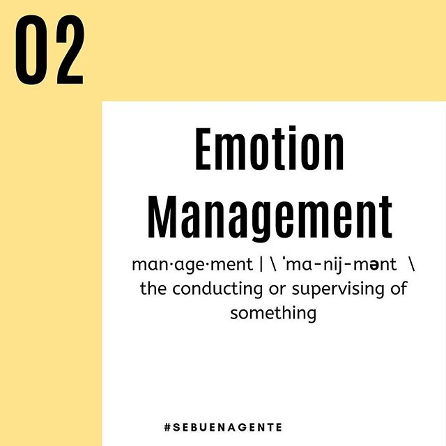 "Next up on the list of the top five factors of emotional intelligence we have: Managing Your Emotions.  Do you stop and think before you confront someone? Do you take a beat and think to yourself ""how should I react given this situation?"" or ""does this situation warrant the emotional response I am giving to it?"" Taking a simple pause to breathe in and out for 10 seconds could be the deciding factor of the outcome of any given situation.  Follow us for more tips on being more emotionally intelligent.  #sebuenagente #emotionalintelligence #empowerment #personalgrowth #selfesteem #selfempowerment #teamwork #supportoneanother #workingtogether #beconsiderate #benice #bekind #bepositve #justbe #winter #cold #springissoclose #spring #feelgood"