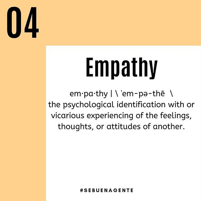A great tool to cultivate daily that will not only help you with emotional intelligence but will also help you with relationships is empathy.  Empathy is the ability to understand the emotions of another person, even if we aren't feeling those same emotions.  Which brings us to the last of our list of top key factors that denote emotional intelligence: knowing how to handle relationships.  It is very important, as much in our professional lives as in our personal lives, to have an understanding of whom we should keep around and whom we should keep at a distance.  What are you going to do today that will help you in the path of becoming more emotionally intelligent?  #sebuenagente #emotionalintelligence #empowerment #personalgrowth #selfesteem #selfempowerment #teamwork #supportoneanother #workingtogether #beconsiderate #benice #bekind #bepositve #justbe #spring #cold #whenistheheatkickingin #feelgood