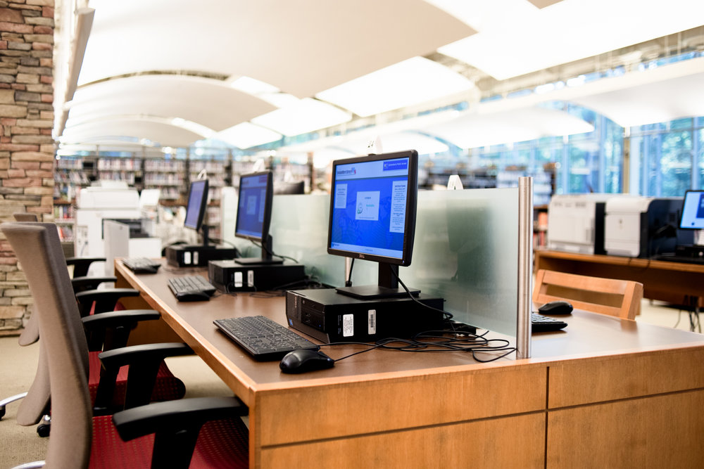 There's plenty of computers, and this was the busiest section (as I'm sure is typical in most libraries these days).