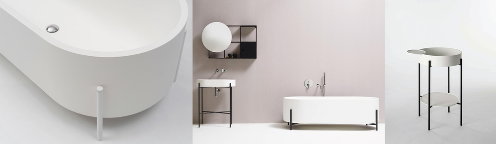 'STAND': a bathtub, sink and washbasin by Norm Architects for ex.t, Italy. www.ex-t.com