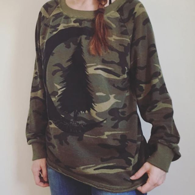 I have one women's size large ready to ship sweatshirt!! Get it now! I also have one men's size large camo hoodie ready to ship. If you want local pick up in Des Moines use coupon code LOCAL to deduct shipping. Order today and you can puck it up tomorrow!