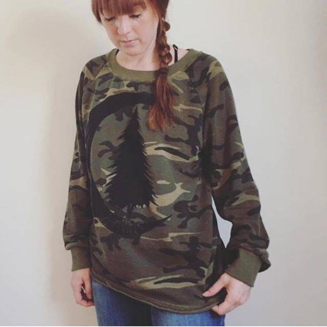 I'm having a sale on all clothing items except the bee crop top (see previous post). Use coupon code ETSYLABORDAY2018 to get 30% off. If for some reason the code doesn't work for you, etsy has been acting up, then I will refund you the 30% after you order. I have one of these camo woodland pullovers in large left!