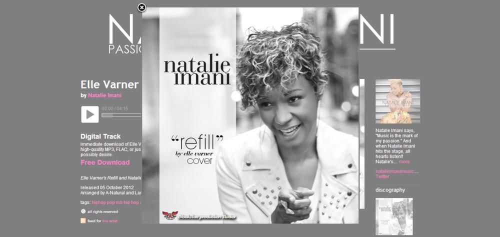 Natalie Imani - Album Art