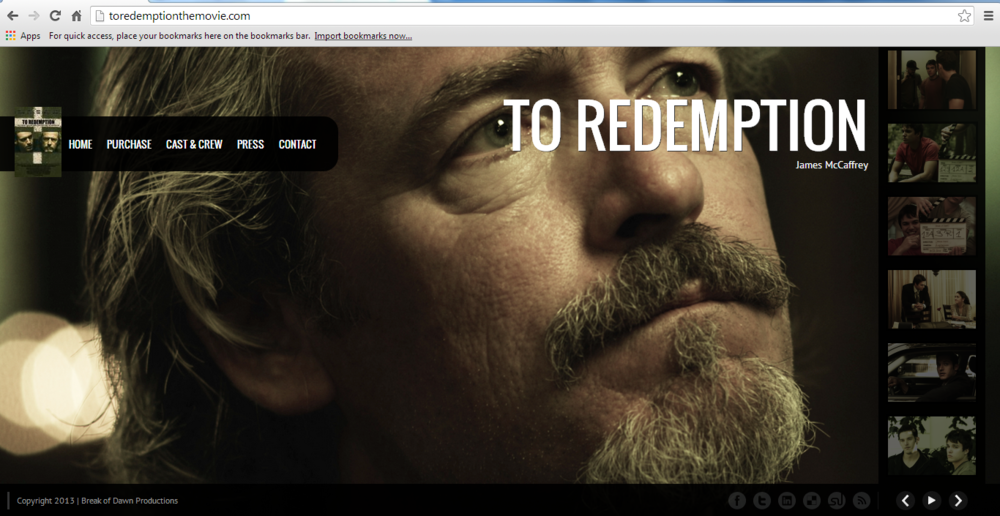 """To Redemption"" The Movie - Website"