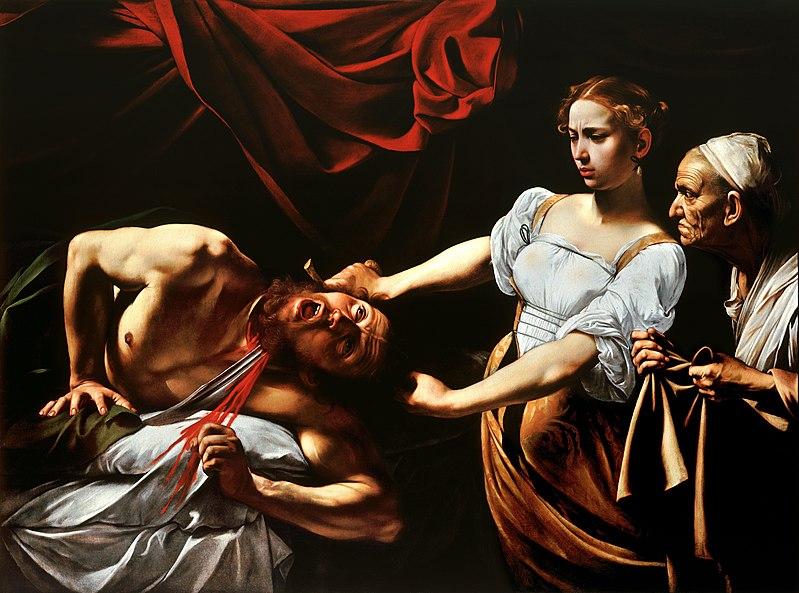 Judite e Holofernes (Giuditta e Oloferne) Caravaggio, 1599