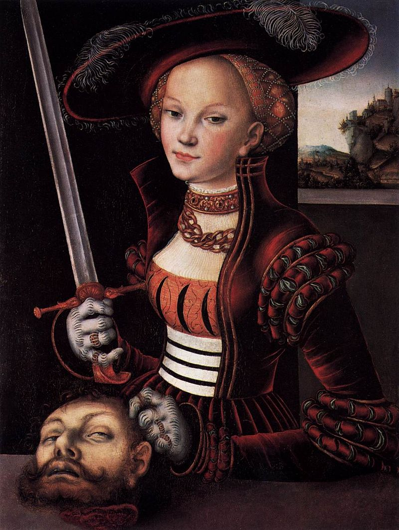 Judith with the Head of Holofernes by Lucas Cranach the Elder, 1530