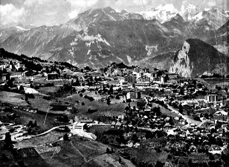 Valais, Switzerland, as depicted in the University of the New World's Winter 1971-72 General Bulletin