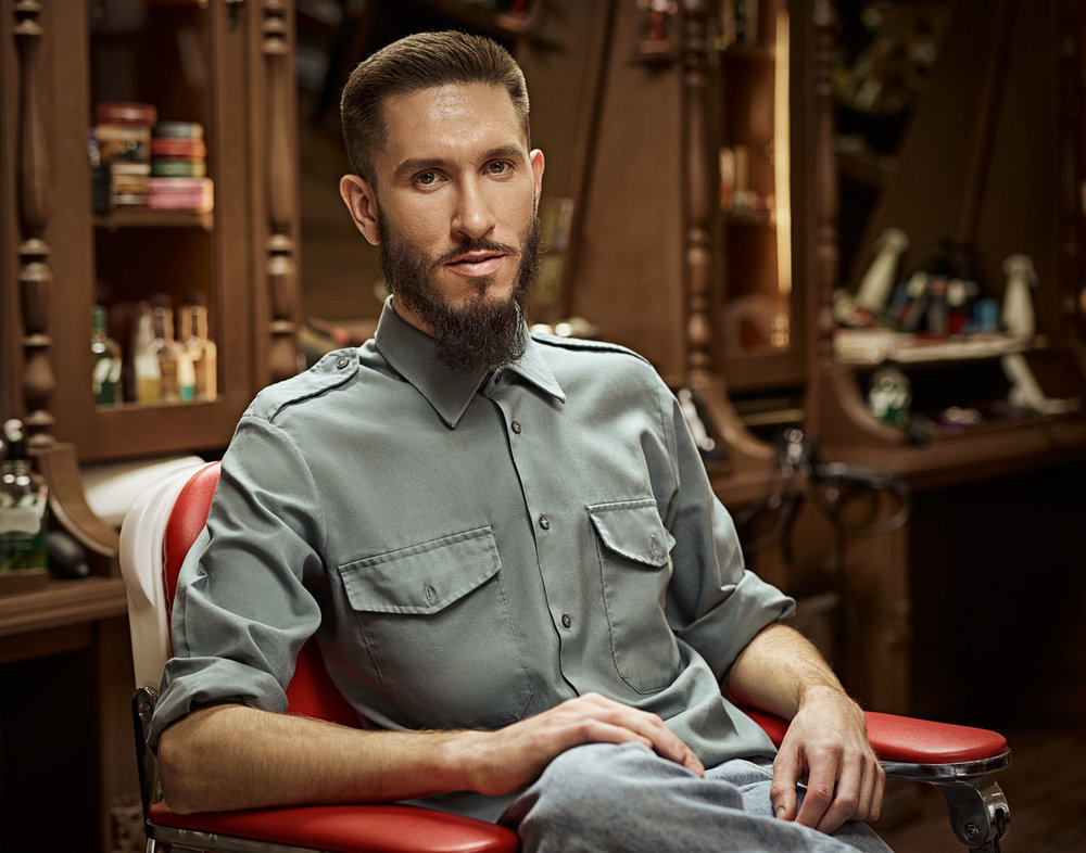 Portrait of a barber.