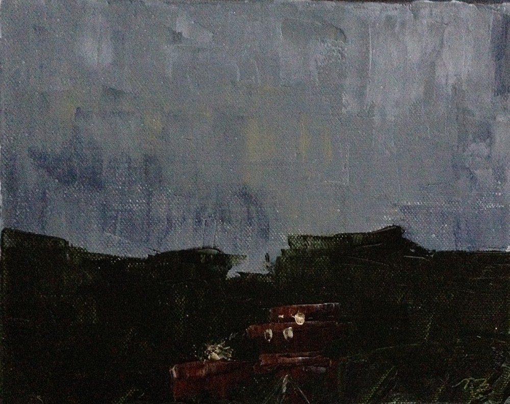 June 3, 5:38am, 11/30 8 x 10, oil on canvas.