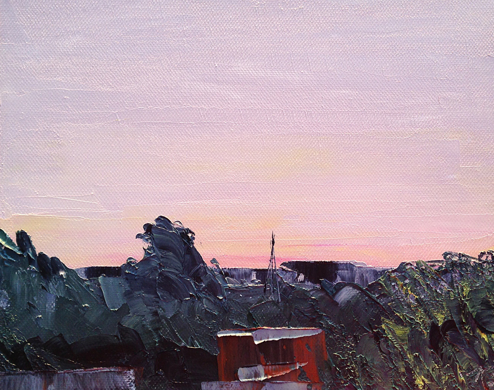 June 4, 5:38am, 12/30 8 x 10, oil on canvas.