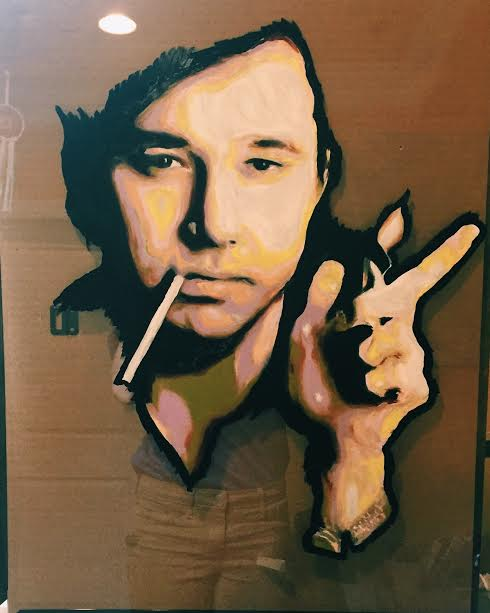 Bill Hicks, oil on glass