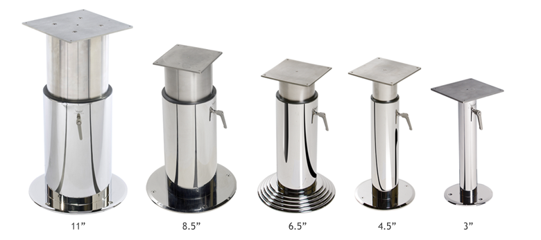 Crown Ltd Table Pedestals Are The Perfect Match For Your Superyacht. Choose  The Style And Features You Require. We Offer A Full Range Of Fixed Height  And ...