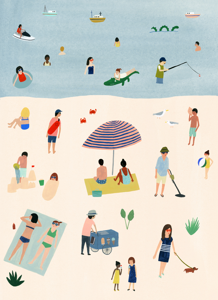 Summer poster, released in a series of 9 section in Flow Magazine