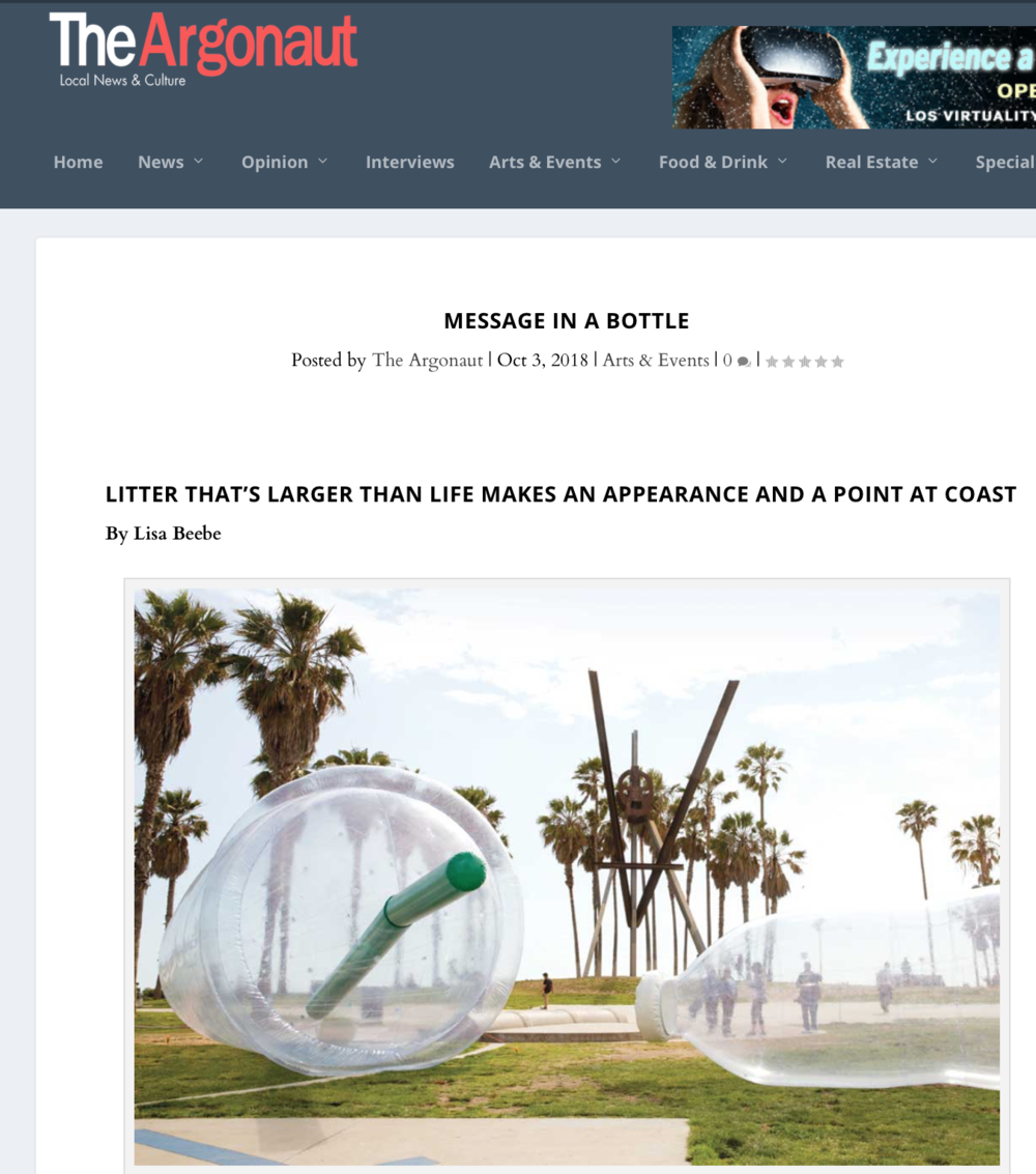 COAST Santa Monica  The Argonaut  by Lisa Beebe