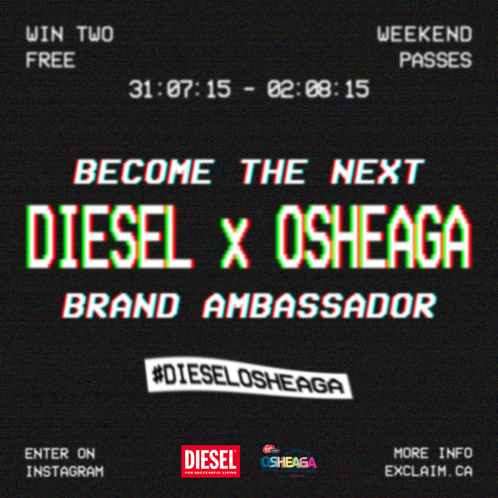 Proposed poster design for a social media contest promoting the #DIESELTATTOO booth during Osheaga 2015