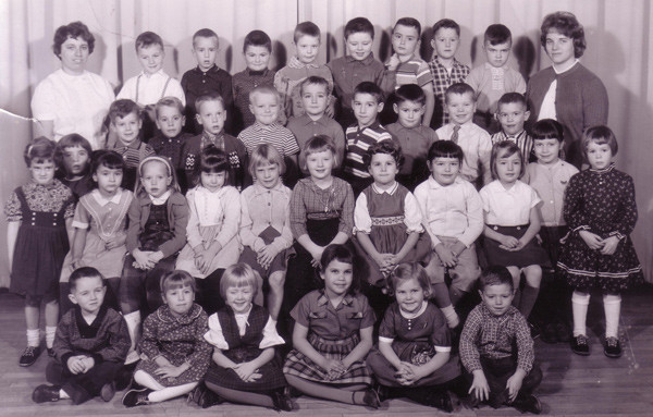 With my Kindergarten class...guess which one is me?  (think ANGRY!)