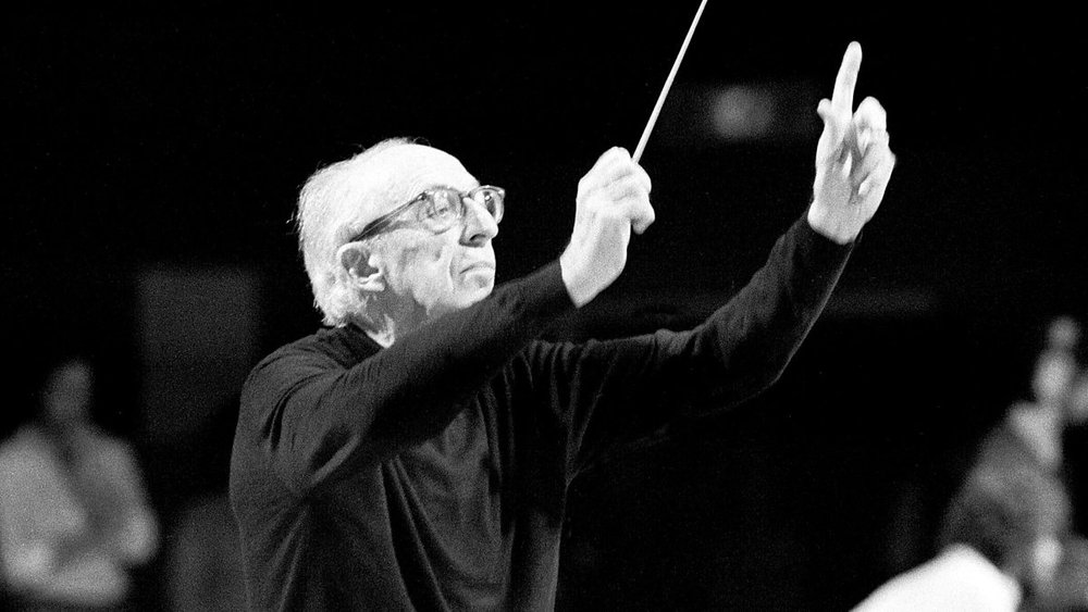 Composer and conductor Aaron Copland