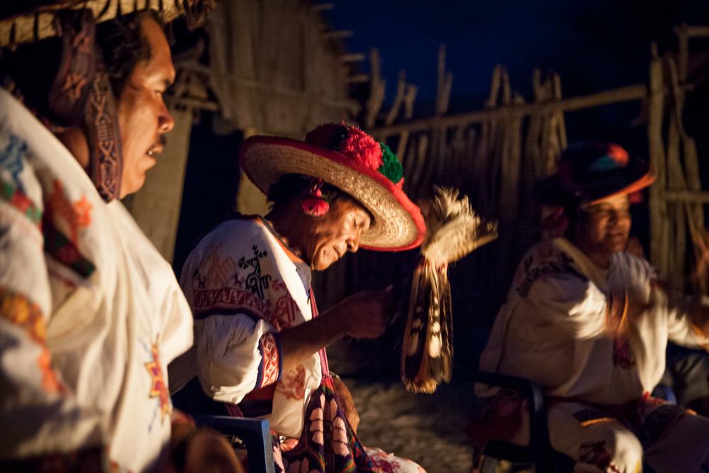 Huichol Village Shaman, Aguamilpa, Mexico
