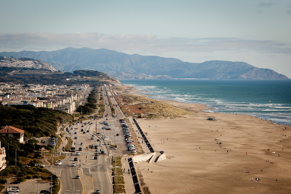 The Great Highway, Ocean Beach, SF, California