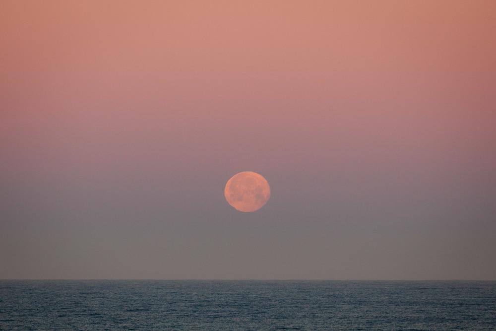 Moonset, Montara, California