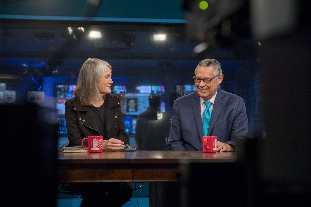 Amy Goodman and Juan González, Democracy Now Studios, NYC
