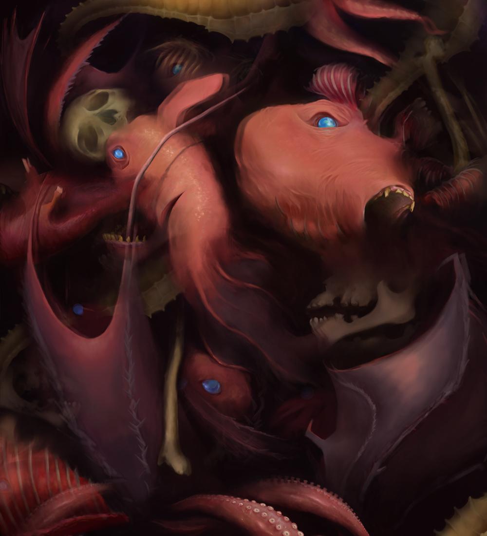Vampyroteuthis (Nightmare), Digital Painting, 2012