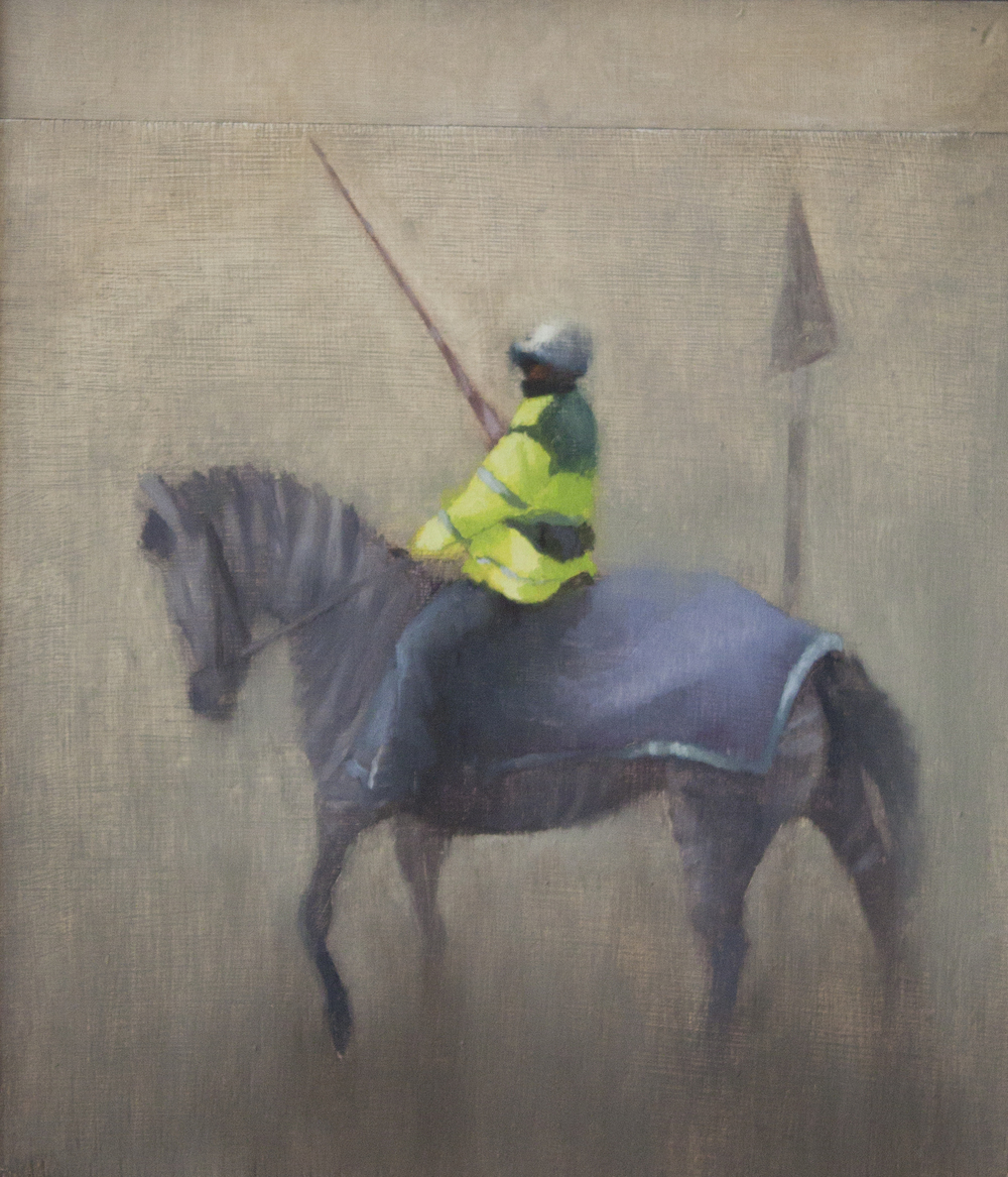 Rider I, Oil on Wood, 32x27cm, 2010