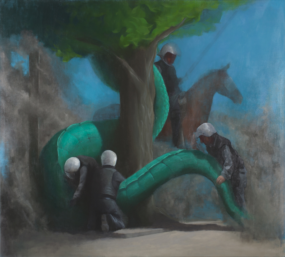 St. George and the Dragon II, Oil on Canvas, 200x180cm, 2011