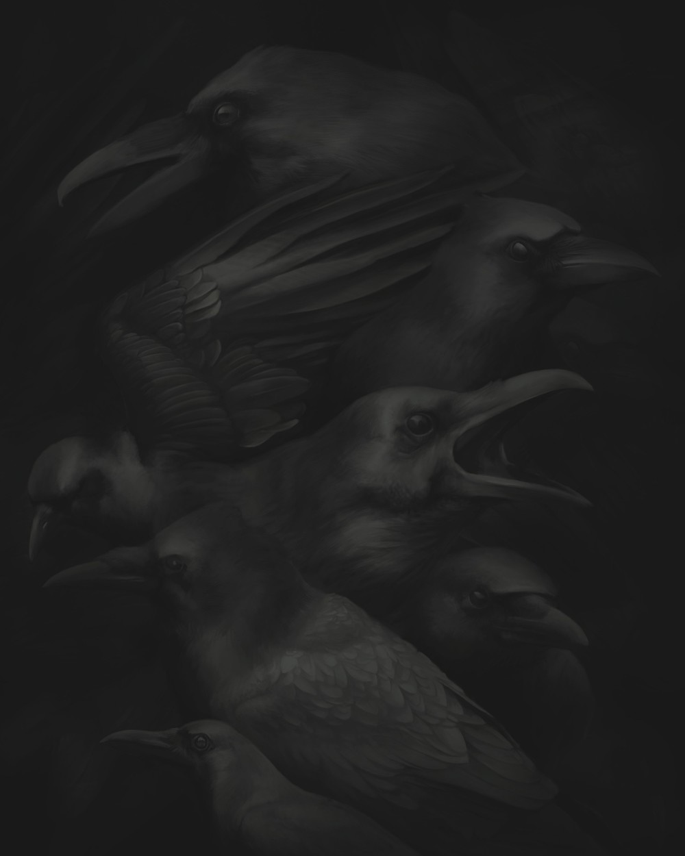 Birds I, Digital Painting - Lenticular Print, 2012
