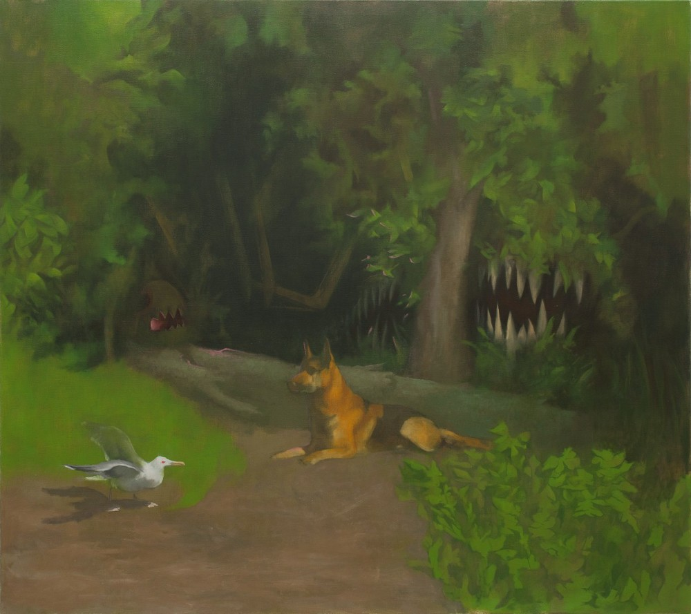 dog, Oil on Canvas, 160x180cm, 2013