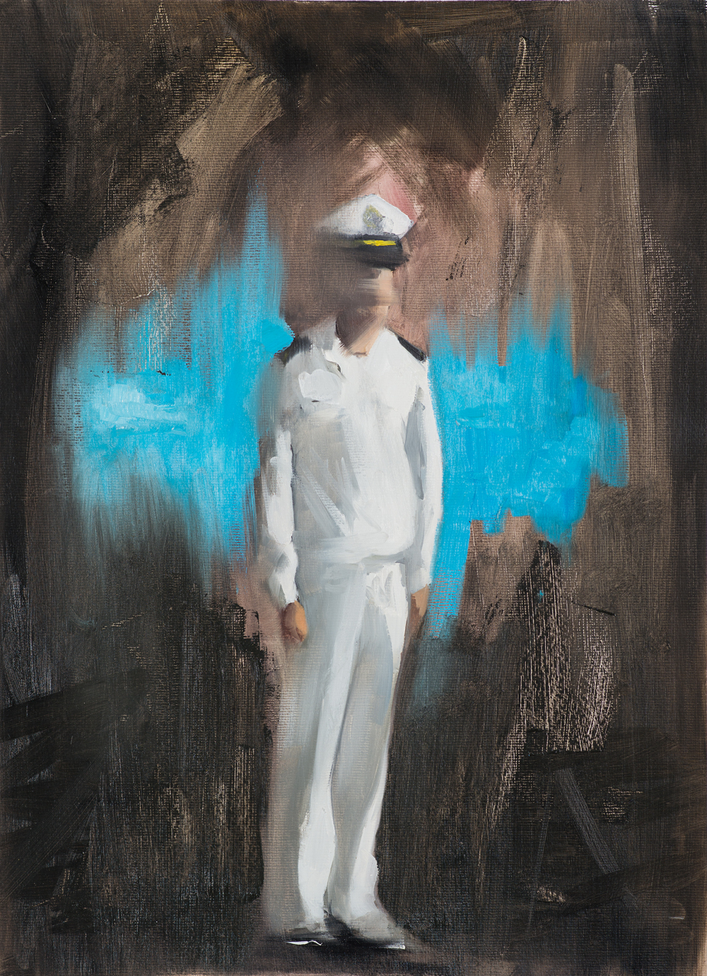 Officer I, Oil on Paper, 56x42cm, 2014
