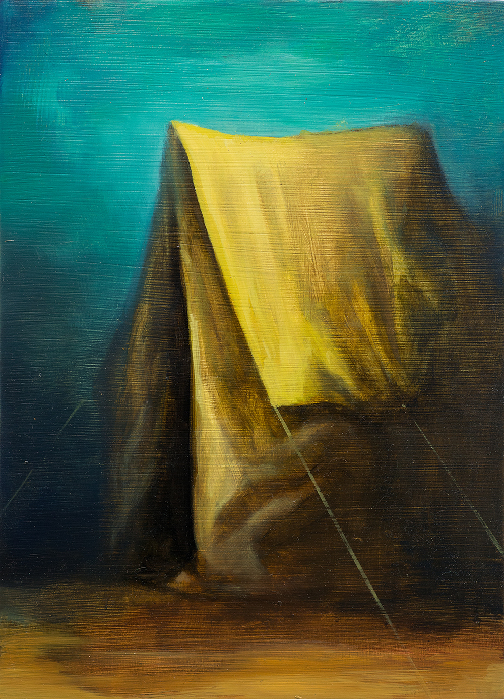 Zelt II, Oil on Wood, 29x21cm, 2014