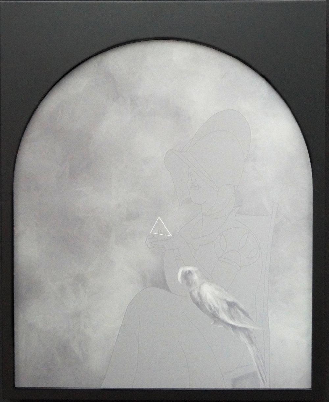 Charmer, Digital Painting-lenticular print, 52x42cm, 2016